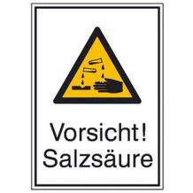 Warn-Kombischild Vorsicht! Salzsäure