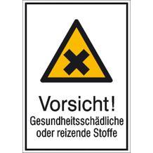 Warn-Kombischild Vorsicht! Gesundheitsschädliche oder reizende Stoffe