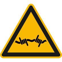 Warnschild - Warnung vor Stacheldraht