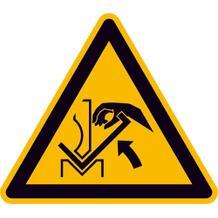 Warnschild - Warnung vor Quetschgefahr der Hand