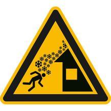 Warnschild - Warnung vor Dachlawine