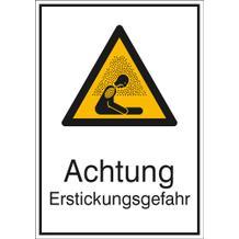 Warn-Kombischild Achtung Erstickungsgefahr