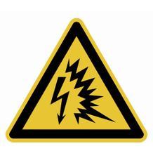 Warnschild - Warnung vor Lichtbogen