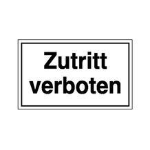 Hinweisschild - Betriebskennzeichnung - Zutritt verboten