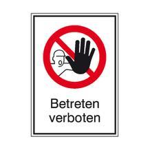 Verbots-Kombischild - Betreten verboten