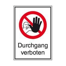 Verbots-Kombischild - Durchgang verboten