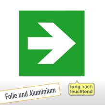 Fluchtweg/Erste Hilfe- Zusatzschild Richtungsangabe gerade