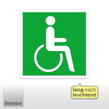 Rettungszeichen, Rettungsweg - Notausgang für Rollstuhlfahrer rechts
