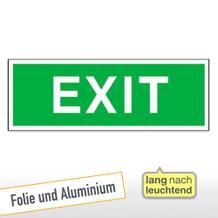 Fluchtweg - Zusatzschild- langnachleuchtend Exit