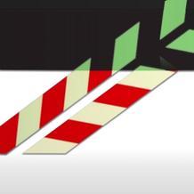 Warnmarkierungsstreifen  rot/langnachleuchtend, selbstklebend