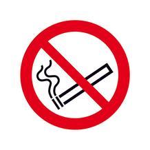Verbotsschild - Rauchen verboten - zur Innenverklebung hinter Glas