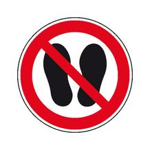 Verbotsschild - Betreten der Fläche verboten