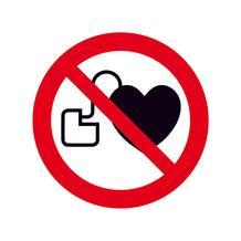 Verbotsschild - Kein Zutritt für Personen mit Herzschrittmachern oder ...