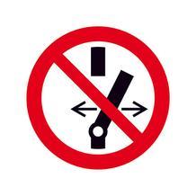 Verbotsschild - Schalten verboten