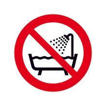 Verbotsschild - Verbot dieses Gerätes in der Badewanne …