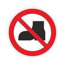 Verbotsschild - Tragen von Straßenschuhen verboten