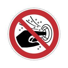 Verbotsschild - Finger nicht in die Hydromassagedüse stecken