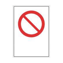 Verbots-Kombischild - mit Verbotszeichen und Text nach Wahl