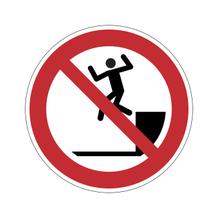 Verbotsschild - Herunterspringen verboten