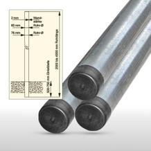 Rohrpfosten aus feuerverzinktem Stahl