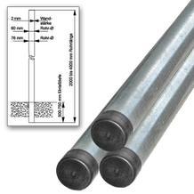 Rohrpfosten - aus feuerverzinktem Stahl - in 9 verschiedenen Größen