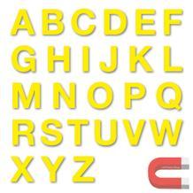 Stanzbuchstaben Großbuchstaben A-Z - magnetisch - Gelb - Höhe 50-100 mm
