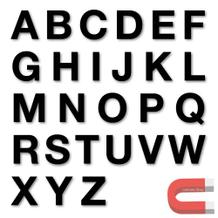 Stanzbuchstaben Großbuchstaben A-Z - magnetisch - Schwarz - Höhe 50-100 mm