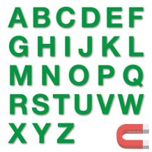 Stanzbuchstaben Großbuchstaben A-Z - magnetisch - Grün - Höhe 50-100 mm