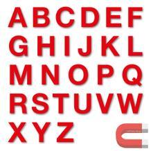 Stanzbuchstaben Großbuchstaben A-Z - magnetisch - Rot - Höhe 50-100 mm