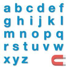 Stanzbuchstaben Kleinbuchstaben a-z - magnetisch - Blau - Höhe 50-100 mm
