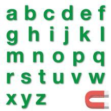 Stanzbuchstaben Kleinbuchstaben a-z - magnetisch - Grün - Höhe 50-100 mm