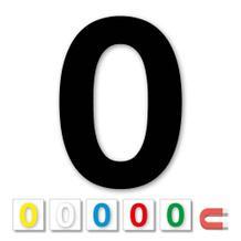 Einzelne Stanz-Ziffer - 0 - magnetisch - 6 Farben - Höhe 50-100 mm