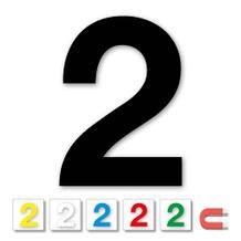 Einzelne Stanz-Ziffer - 2 - magnetisch - 6 Farben - Höhe 50-100 mm
