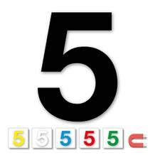 Einzelne Stanz-Ziffer - 5 - magnetisch - 6 Farben - Höhe 50-100 mm