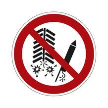 Verbotsschild - Feuerwerkskörper zünden verboten