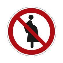 Verbotsschild - Für schwangere Frauen verboten