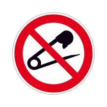 Verbotsschild - Keine Nadeln einstechen
