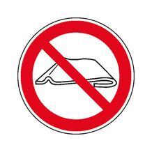 Verbotsschild - Nicht falten oder zusammenschieben