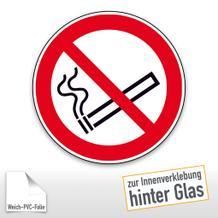 Verbotsschild - Rauchen verboten, zur Innenverklebung hinter Glas