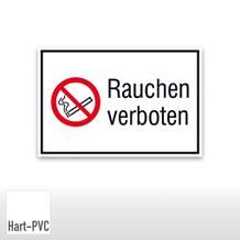 Verbots-Kombischild Rauchen verboten, quer