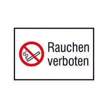 Verbots-Kombischild im Querformat - Rauchen verboten