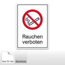 Verbots-Kombischild Rauchen verboten
