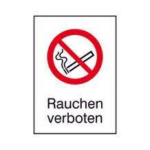 Verbots-Kombischild - Rauchen verboten