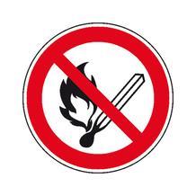 Verbotsschild - Keine offene Flamme, Feuer, Rauchen verboten