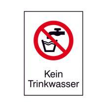 Verbots-Kombischild - Kein Trinkwasser