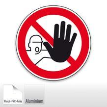 Verbotsschild - Zutritt für Unbefugte verboten