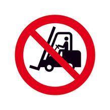 Verbotsschild - Für Flurförderzeuge verboten