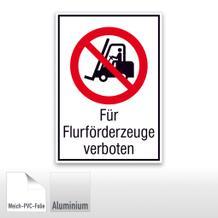 Verbots-Kombischild Für Flurförderzeuge verboten