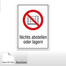 Verbots-Kombischild Nichts abstellen oder lagern