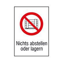 Verbots-Kombischild - Nichts abstellen oder lagern
